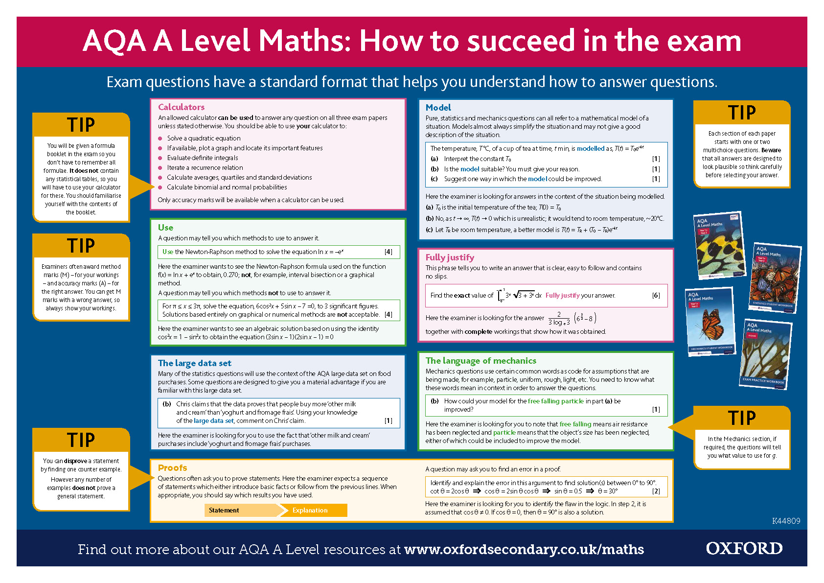 AQA A Level Maths Exam Tips Poster by NTsecondary | Teaching Resources