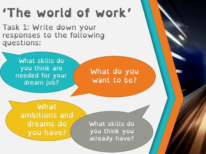 Year 6 - The World of Work - PSHE/PDL/Citizenship