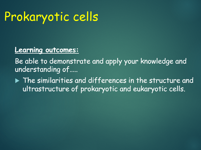 OCR A Level Biology (H020 - from 2015) - 2.1.1 Prokaryotic cells