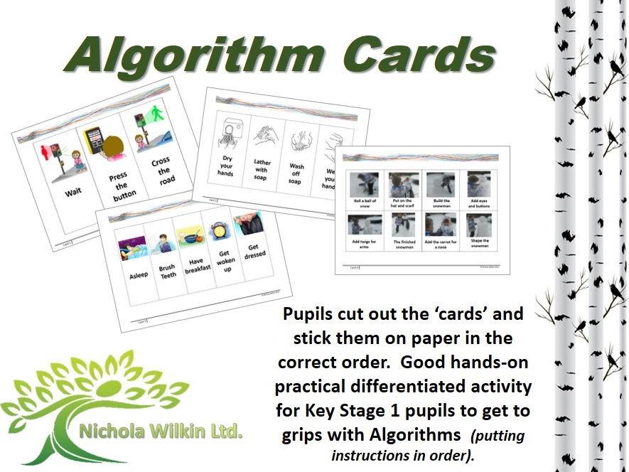 KS1 and KS2 Computing: Algorithm Cards