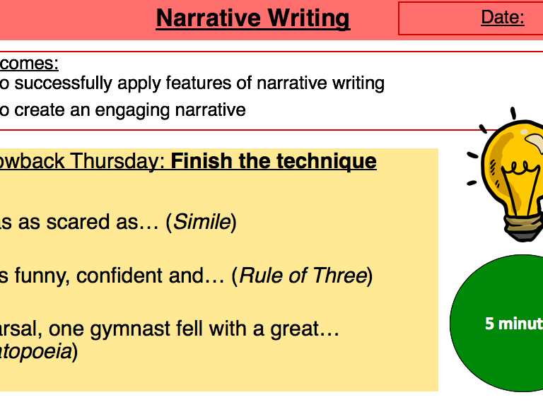 Narrative Writing Lesson