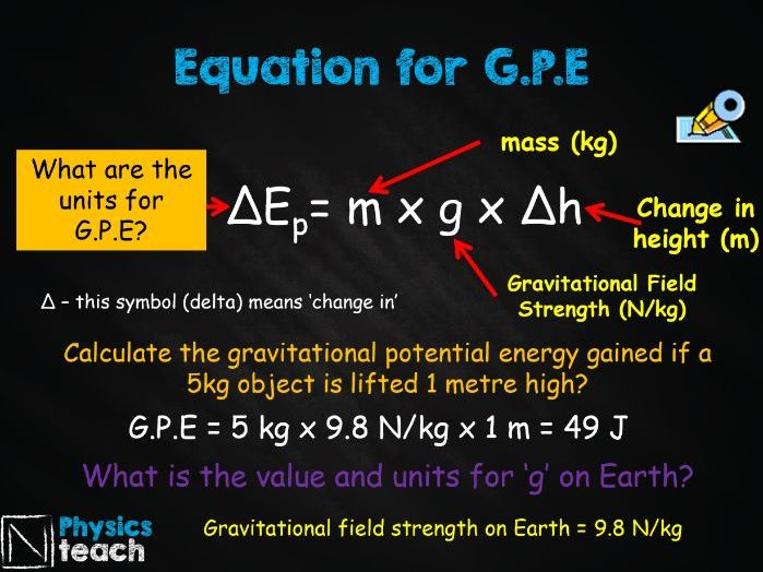 GCSE AQA Physics - P1.4-6 - Gravitational potential, kinetic energy, and elastic potential energy
