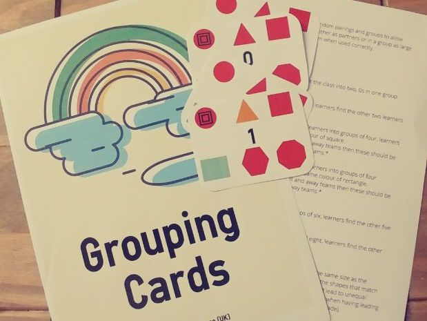 Grouping Cards - Great for Classroom Management
