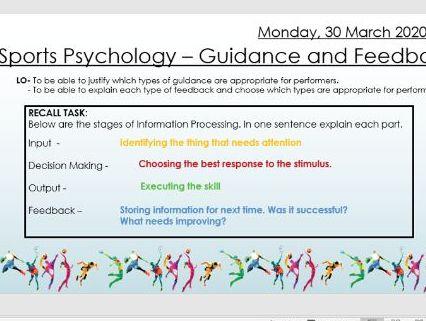 AQA 9 - 1 GCSE PE Guidance and Feedback Lesson