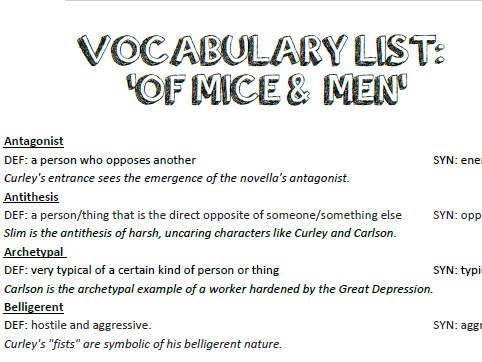 compare contrast poetry essay template ks by anamaria  of mice and men y8 sow