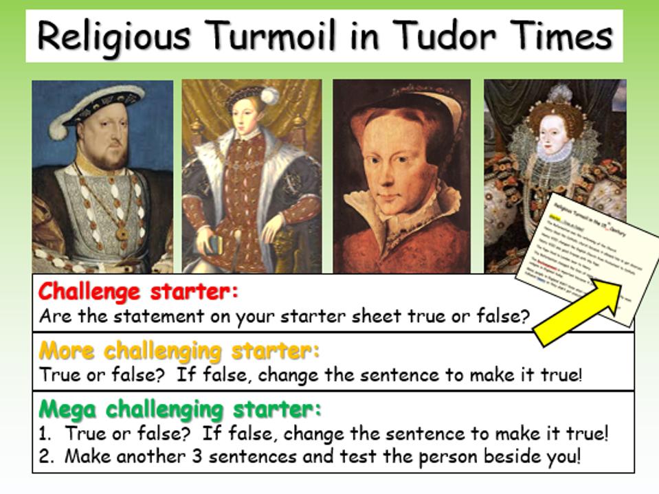 Religion - Tudor Times