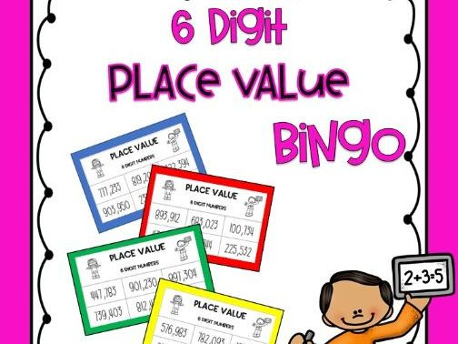 6 Digit Place Value Bingo