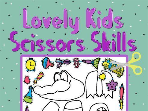 Lovely Kids Scissors Skills Coloring Book