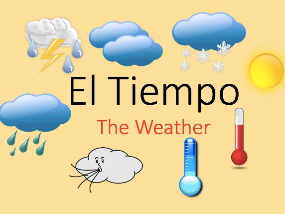 KS2/KS3 Spanish -The Weather Vocabulary and Games