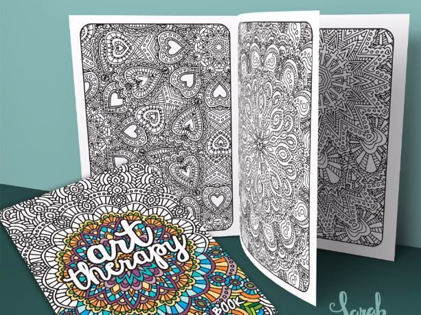 Black and white flower pattern for adult coloring book. Doodle ... | 460x613