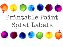 Paint Splat Classroom Labels