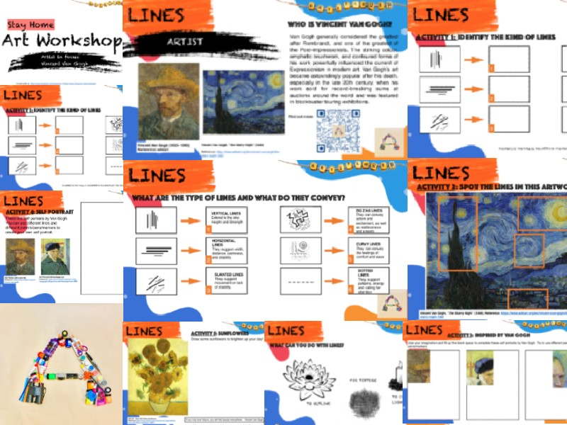 Vincent Van Gogh | Practical & Theoretical Task | Lines | Appropriate For Home Learning