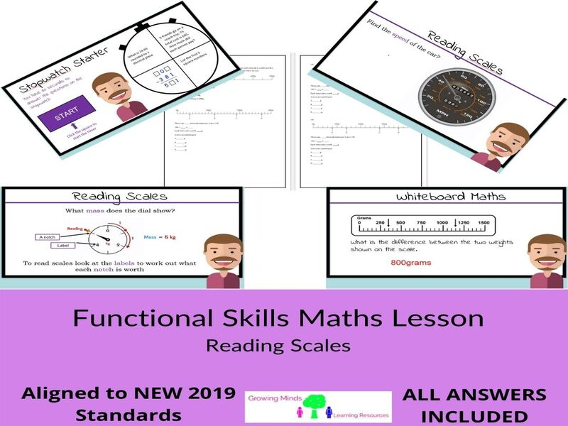 New Functional Skills Maths Full Lesson -Reading Scales