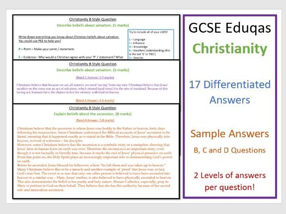 GCSE Eduqas Christianity: Model Answer Revision Pack