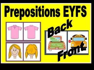 Prepositions Front and Back EYFS