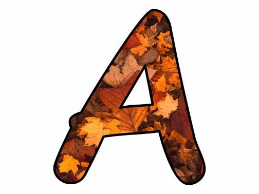Printable display bulletin letters numbers and more: Autumn Fall Leaves