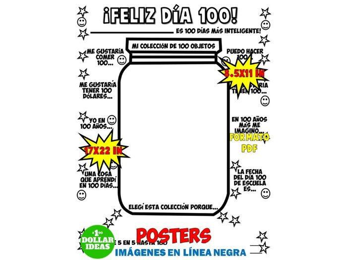 100 DÍAS DE ESCUELA | ACTIVIDADES | POSTER| JARRO
