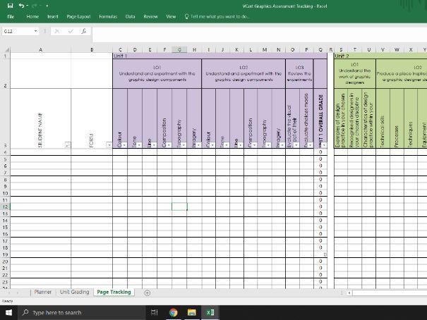 VCert Graphic Design Assessment Tracker