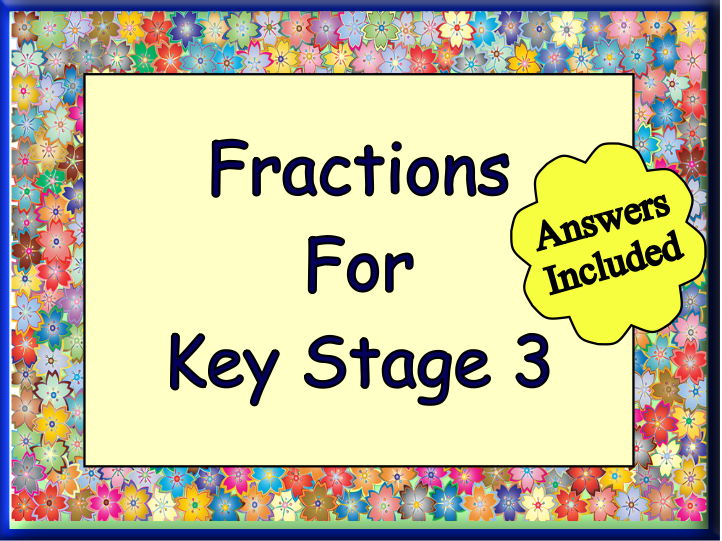 Fractions For KS3