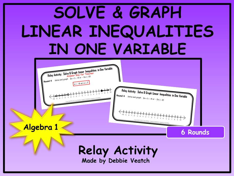 Solve & Graph Linear Inequalities in One Variable Relay Activity