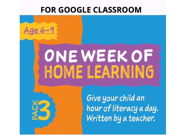Digital Distance Learning Resource For Google Classroom: Pack 3 (6-9 years)