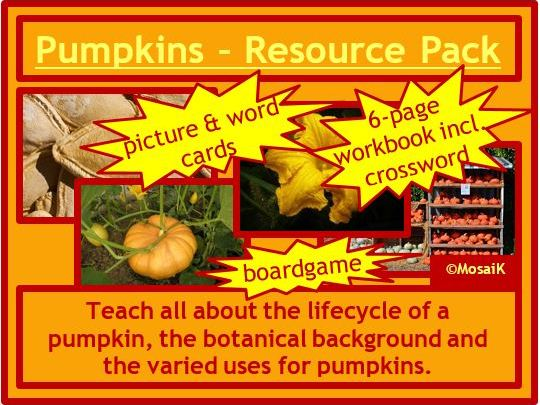 Food Technology, Health, EAL / ESL: Pumkins - Autumn, Harvest, Thanksgiving