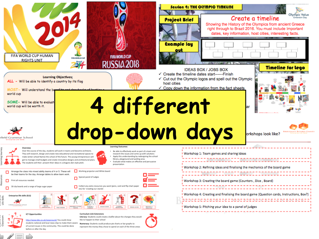 Careers and Enterprise Drop Down Days