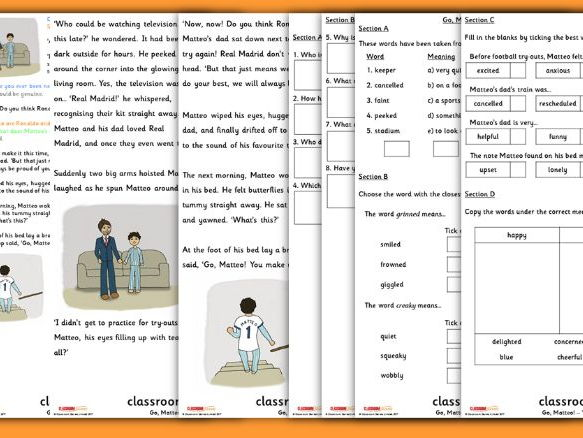 Year 2 UEFA Football Guided Reading