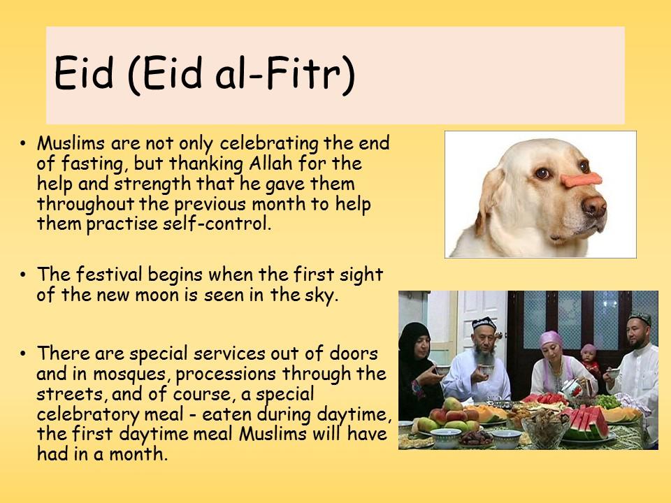 Islam - Ramadan / Eid al-fitr Year 8