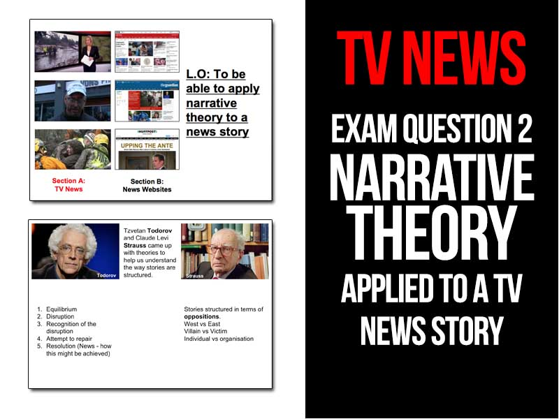TV News - Narrative Question from Section A of the WJEC GCSE Media exam