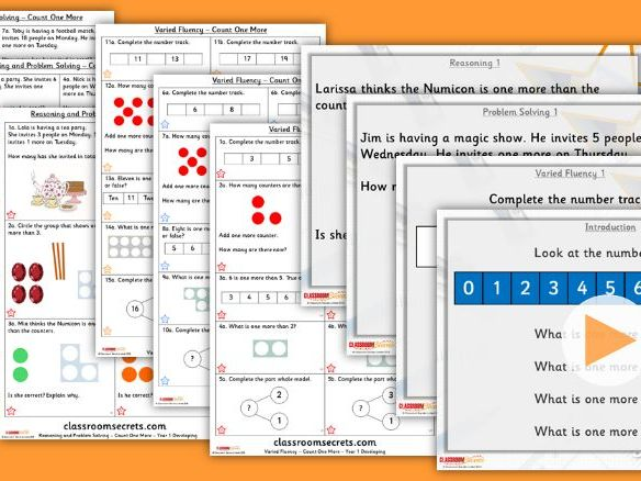 Year 1 Count One More Autumn Block 1 Step 6 Lesson Pack