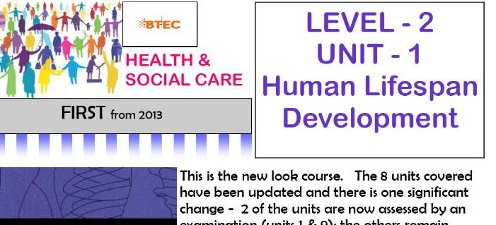 BTEC (old spec) Health & Social Care Level 2 unit 1: Human Lifespan Development