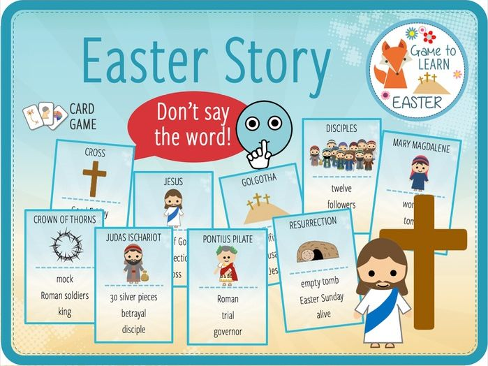 Easter Story - Don't say the word! Card Game