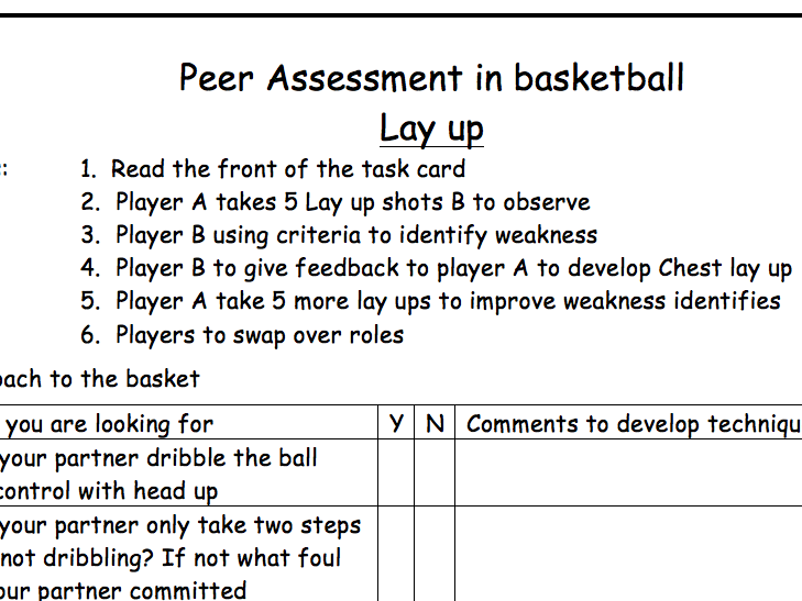 P.E Volleyball - Lesson Plans, Peer Assessment and Workcards