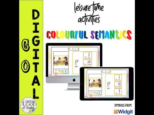 Leisure Time - Colourful Semantics Interactive PowerPoint