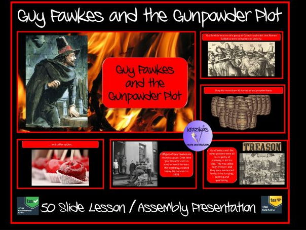 Guy Fawkes and The Gunpowder Plot PowerPoint Assembly Lesson Presentation - Ideal for Bonfire Night