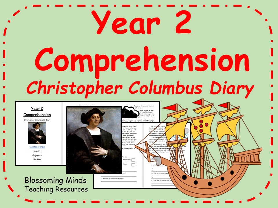 Year 2 comprehension - Fictional diary - Christopher Columbus
