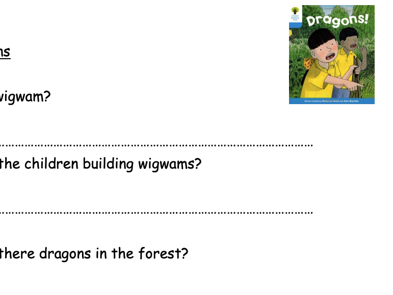 Oxford Reading Tree Stage 3 Comprehension Decode and Develop.