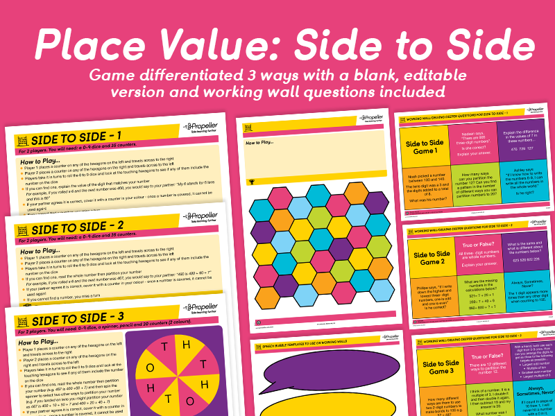 Place Value: Side to Side Game (Differentiated)