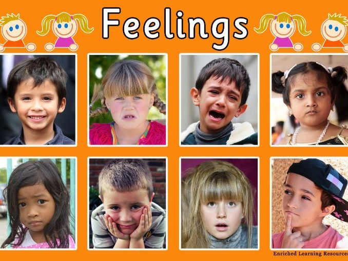A4 EARLY YEARS POSTER SHOWING DIFFERENT FEELINGS