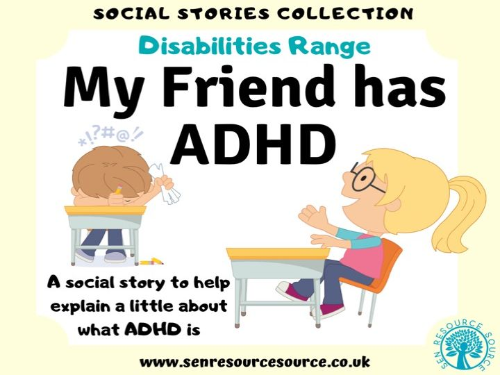 My Friend has ADHD Social Story