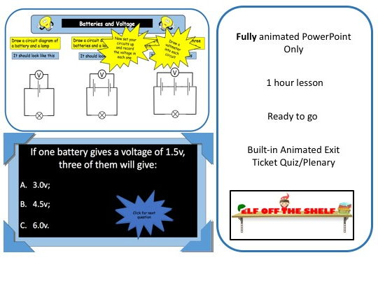 Electricity - Batteries and Voltage KS3 - Animated PowerPoint
