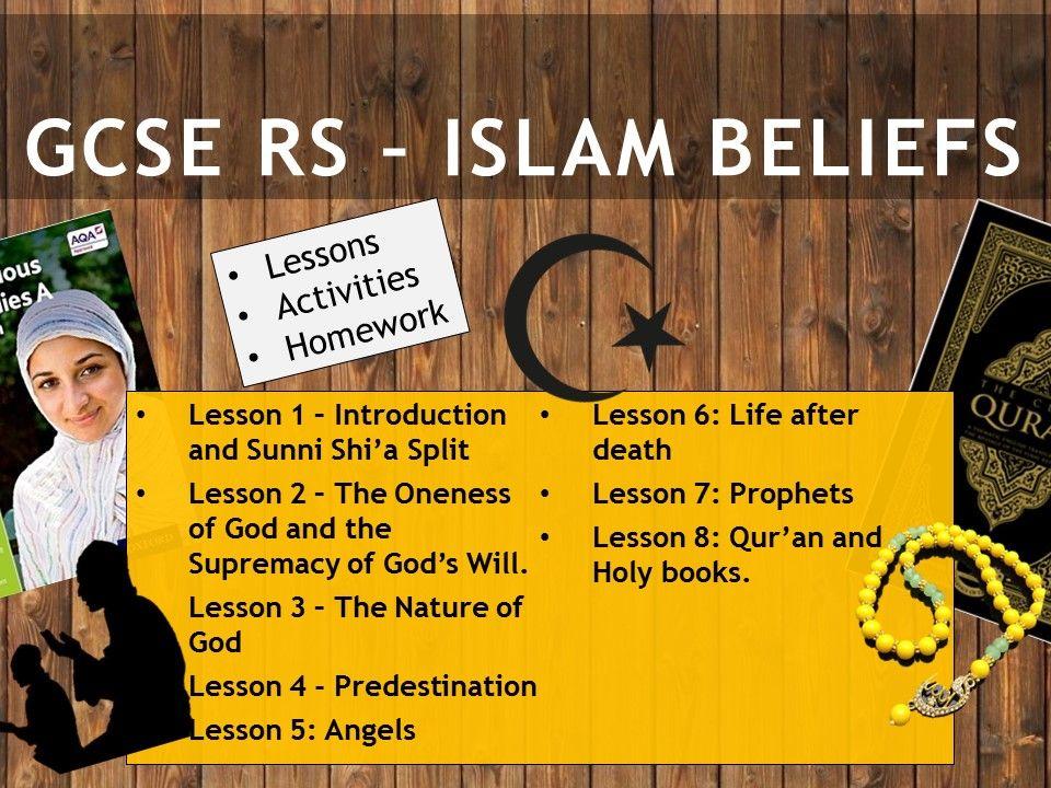 AQA GCSE RE RS - Islam Beliefs  Whole unit (8 Lessons)