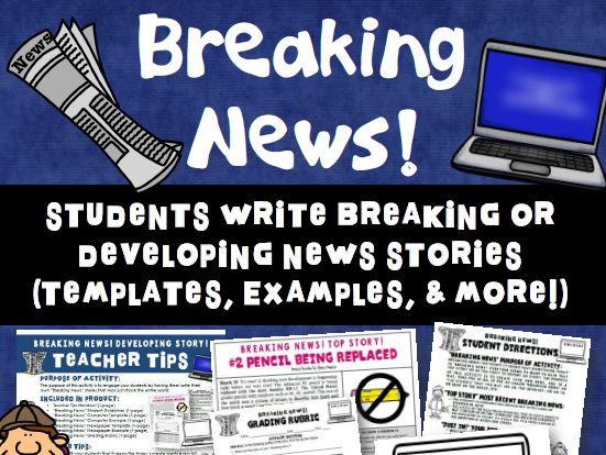 Writing Breaking News Stories Activity