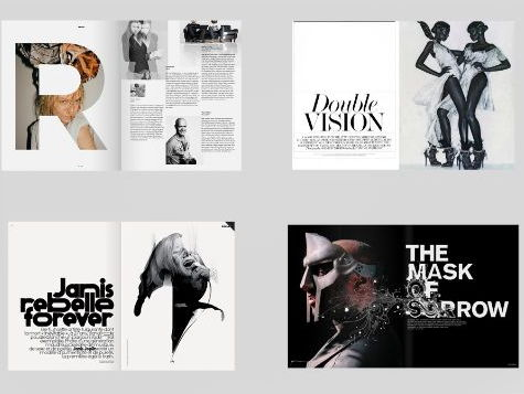 Art and Photography Magazine Spread Designs