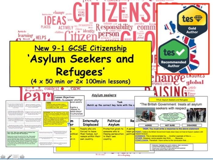 GCSE Citizenship (9-1) Topic: Asylum Seekers/Refugees and Syrian Conflict
