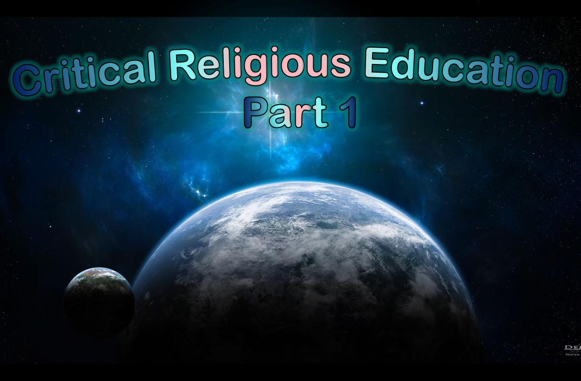 Critical RE introduction part 1 (part 2)