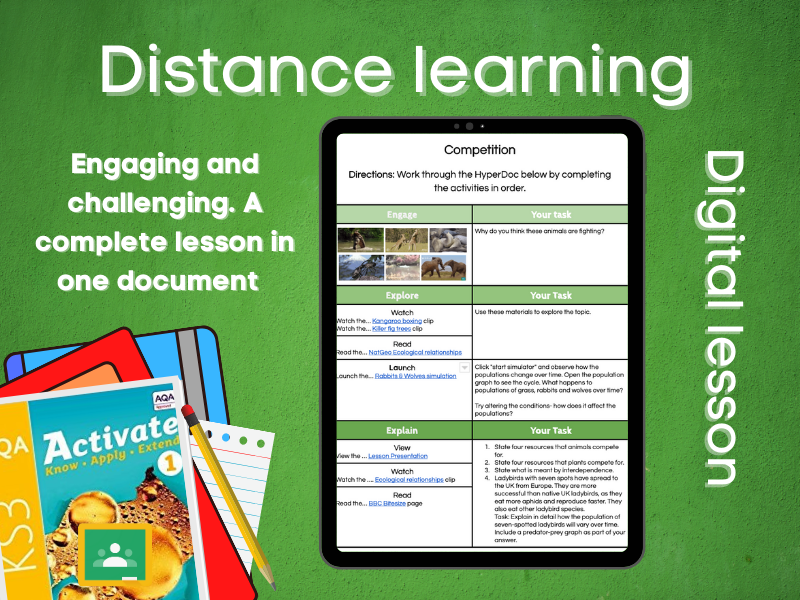 9.1.4 Competition: Distance learning (AQA KS3 Activate 1)