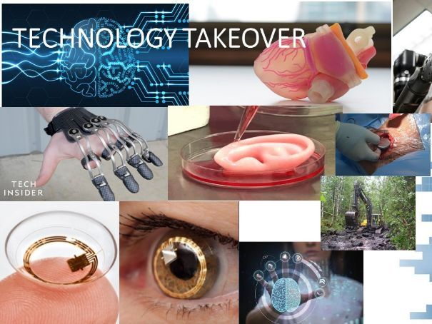 """""""Technology Takeover"""" A-Level art foundation style approach"""
