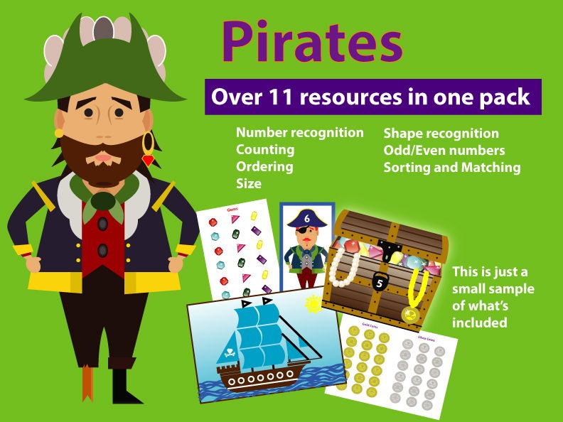 MATHS FOR EARLY YEARS BUNDLE - PIRATE THEME